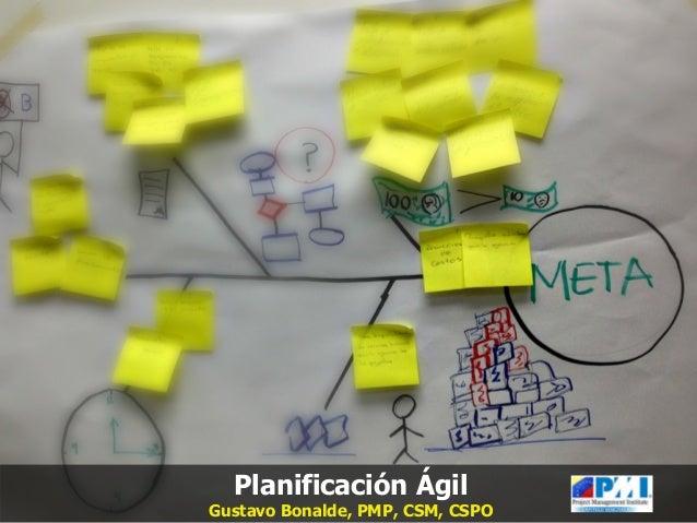 Planificación Ágil   Planificación Ágil  Gustavo Bonalde, PMP, CSM, CSPO