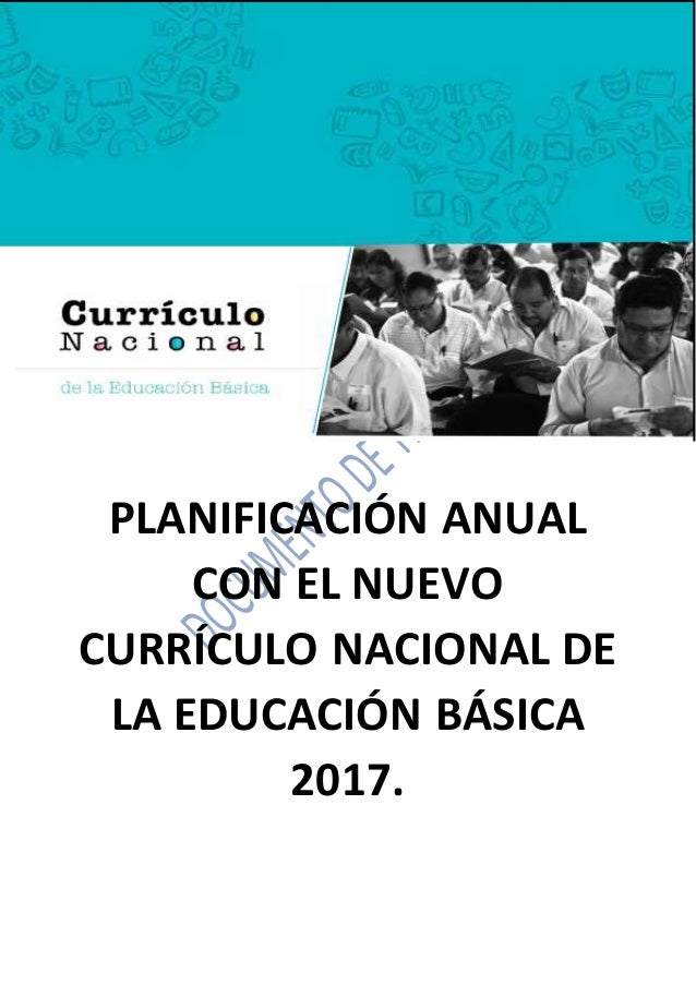 Planificaci n anual con el nuevo curr culo nacional de la for Nuevo curriculo de educacion inicial