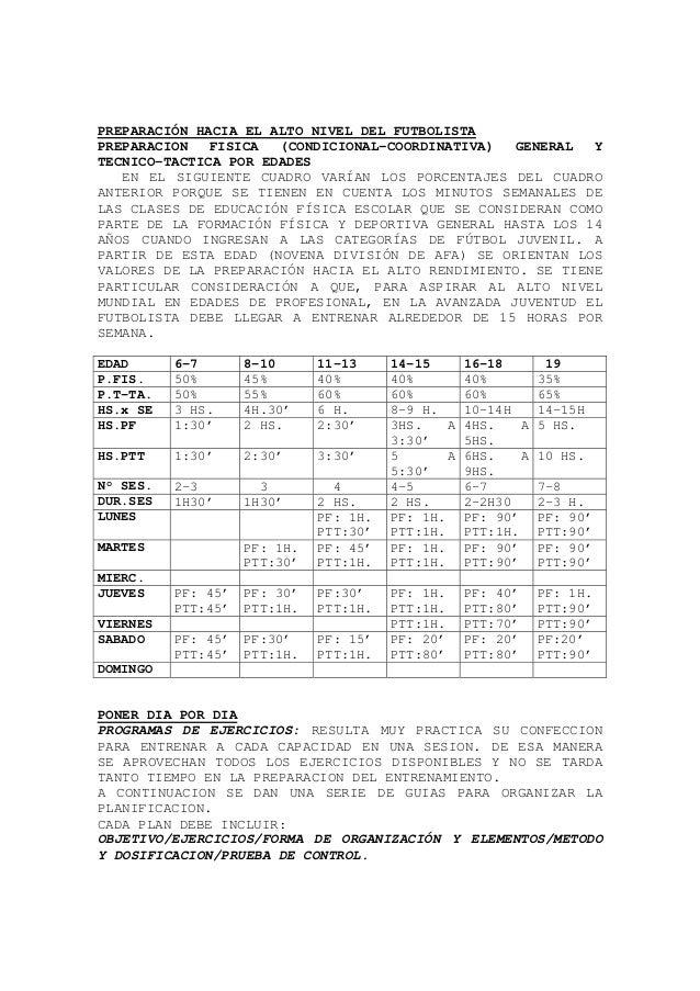 PREPARACIÓN HACIA EL ALTO NIVEL DEL FUTBOLISTA PREPARACION FISICA (CONDICIONAL-COORDINATIVA) GENERAL Y TECNICO-TACTICA POR...