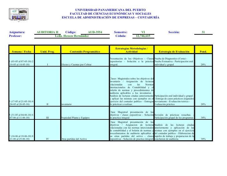 UNIVERSIDAD PANAMERICANA DEL PUERTO                                               FACULTAD DE CIENCIAS ECONÓMICAS Y SOCIAL...