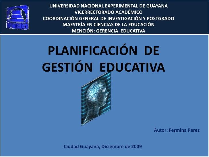 UNIVERSIDAD NACIONAL EXPERIMENTAL DE GUAYANA<br />VICERRECTORADO ACADÉMICO<br />COORDINACIÓN GENERAL DE INVESTIGACIÓN Y PO...