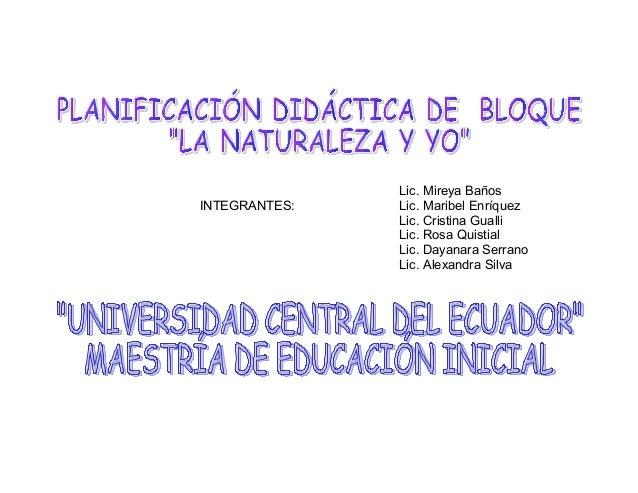 INTEGRANTES:  Lic. Mireya Baños Lic. Maribel Enríquez Lic. Cristina Gualli Lic. Rosa Quistial Lic. Dayanara Serrano Lic. A...