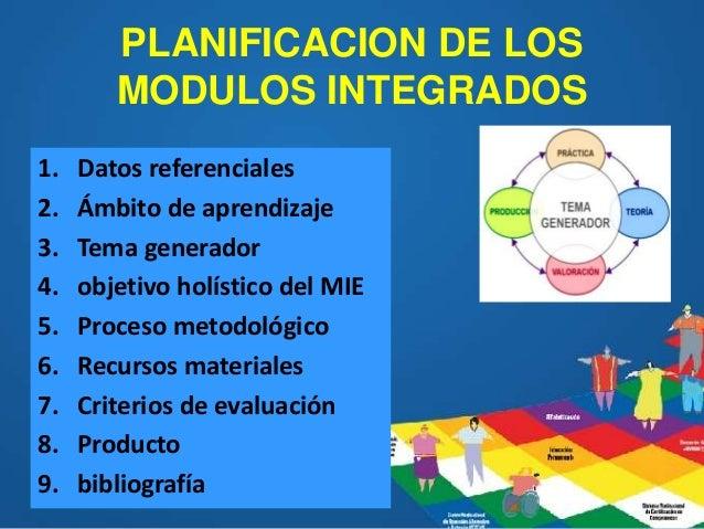 Planificación De Los Módulos Integrados Eppja 2018