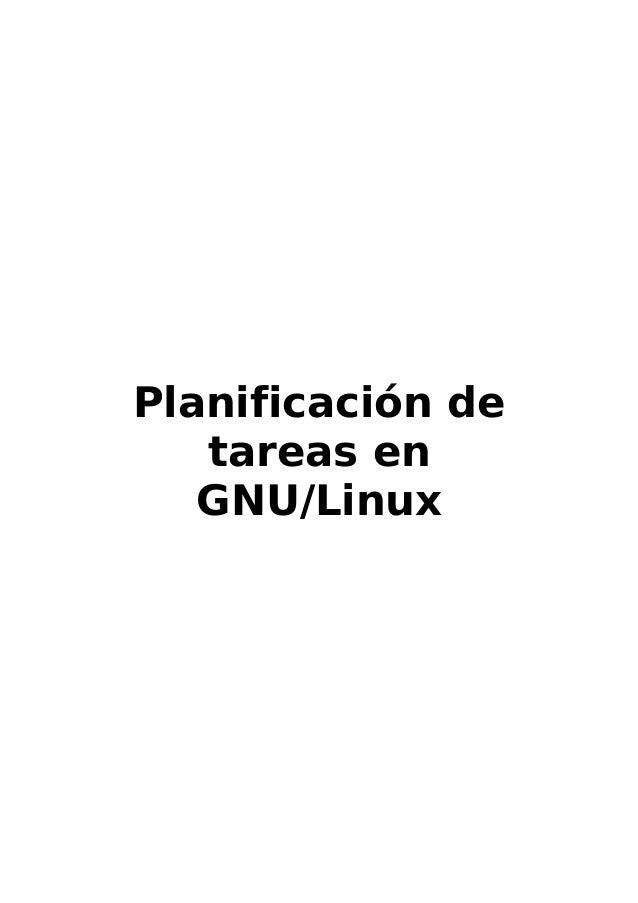 Planificación de tareas en GNU/Linux