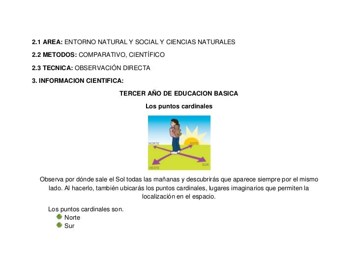 2.1 AREA: ENTORNO NATURAL Y SOCIAL Y CIENCIAS NATURALES2.2 METODOS: COMPARATIVO, CIENTÍFICO2.3 TECNICA: OBSERVACIÓN DIRECT...