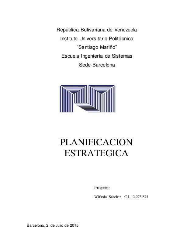 """República Bolivariana de Venezuela Instituto Universitario Politécnico """"Santiago Mariño"""" Escuela Ingeniería de Sistemas Se..."""