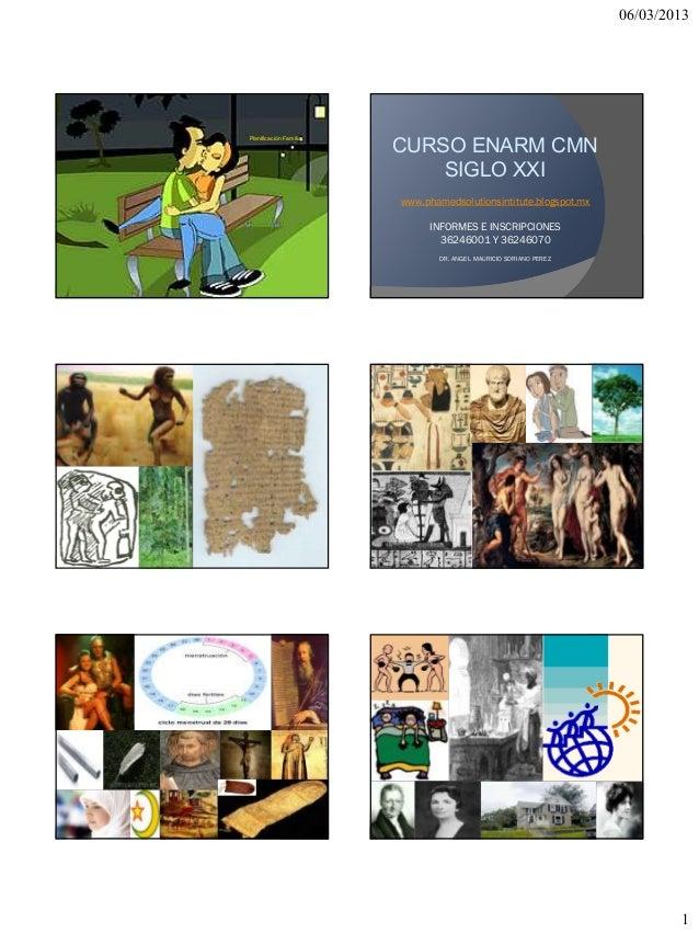 06/03/2013                          CURSO ENARM CMNPlanificación Familiar.                              SIGLO XXI         ...