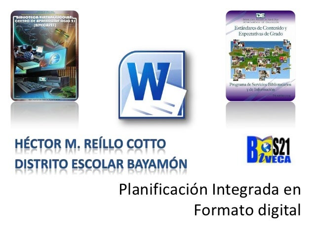 Planificación Integrada en           Formato digital
