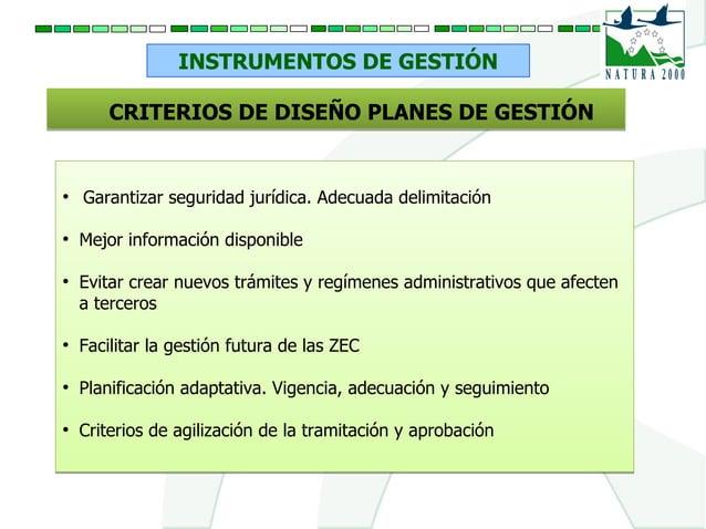 INSTRUMENTOS DE GESTIÓN CRITERIOS DE DISEÑO PLANES DE GESTIÓNCRITERIOS DE DISEÑO PLANES DE GESTIÓN ● Garantizar seguridad ...