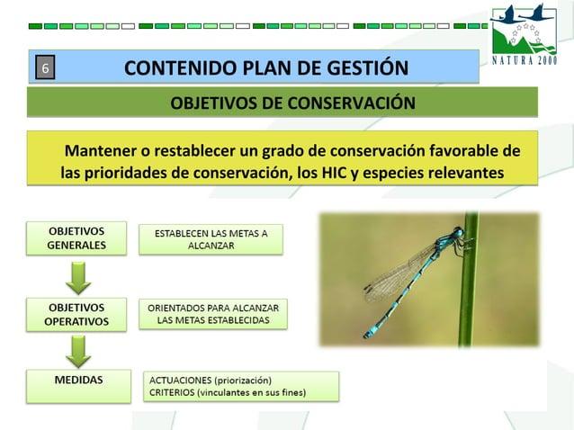 Mantener o restablecer un grado de conservación favorable de las prioridades de conservación, los HIC y especies relevante...