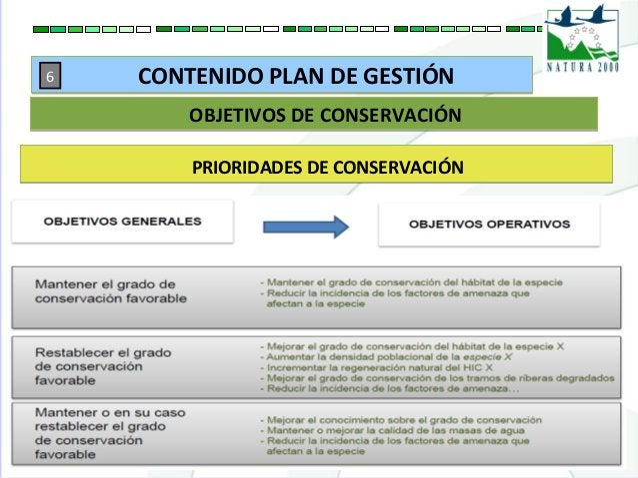 PRIORIDADES DE CONSERVACIÓNPRIORIDADES DE CONSERVACIÓN OBJETIVOS DE CONSERVACIÓNOBJETIVOS DE CONSERVACIÓN CONTENIDO PLAN D...