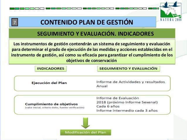 Los instrumentos de gestión contendrán un sistema de seguimiento y evaluación para determinar el grado de ejecución de las...