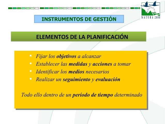 INSTRUMENTOS DE GESTIÓN ELEMENTOS DE LA PLANIFICACIÓNELEMENTOS DE LA PLANIFICACIÓN  Fijar los objetivos a alcanzar  Esta...