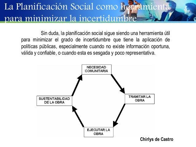 La Planificación Social como herramientapara minimizar la incertidumbre               Sin duda, la planificación social si...