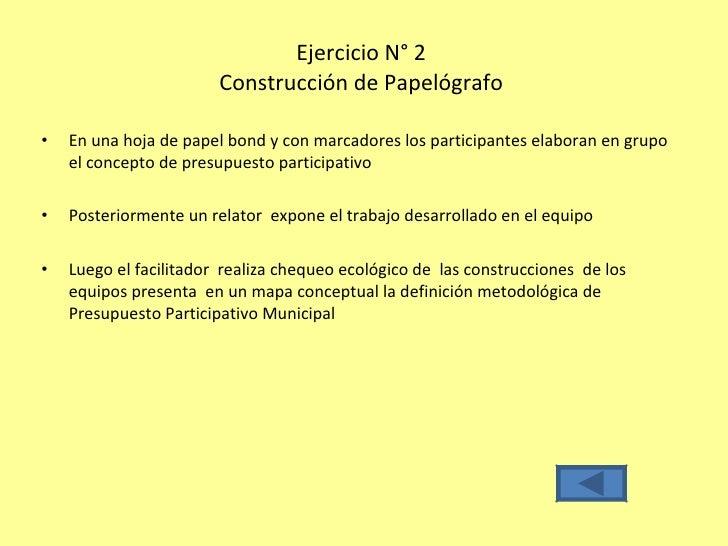 Planificacion Taller Presupuesto Participativo Municipal Con Pnl