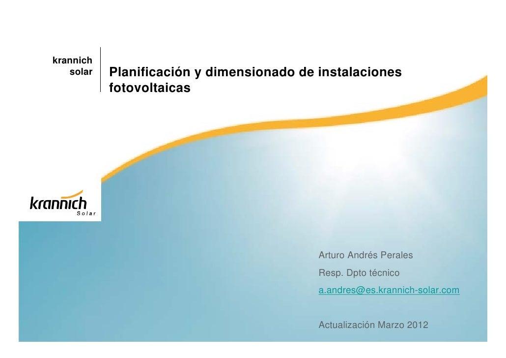 krannich   solar   Planificación y dimensionado de instalaciones           fotovoltaicas                                  ...