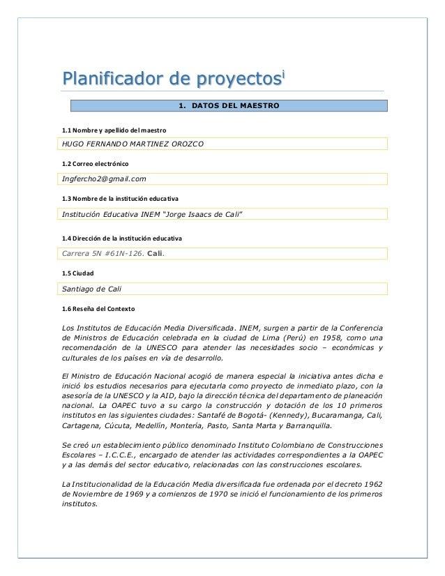 Planificador de proyectos plantilla (proyecto sobre el internet segur…