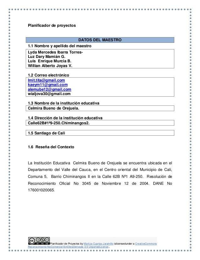 Planificador de proyectos (tita) caracol africano. sept de 2014