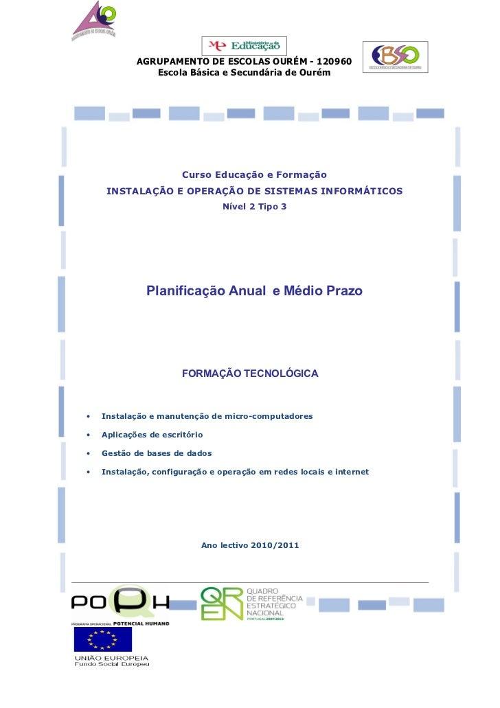 Planificação cefoi 2010 2011