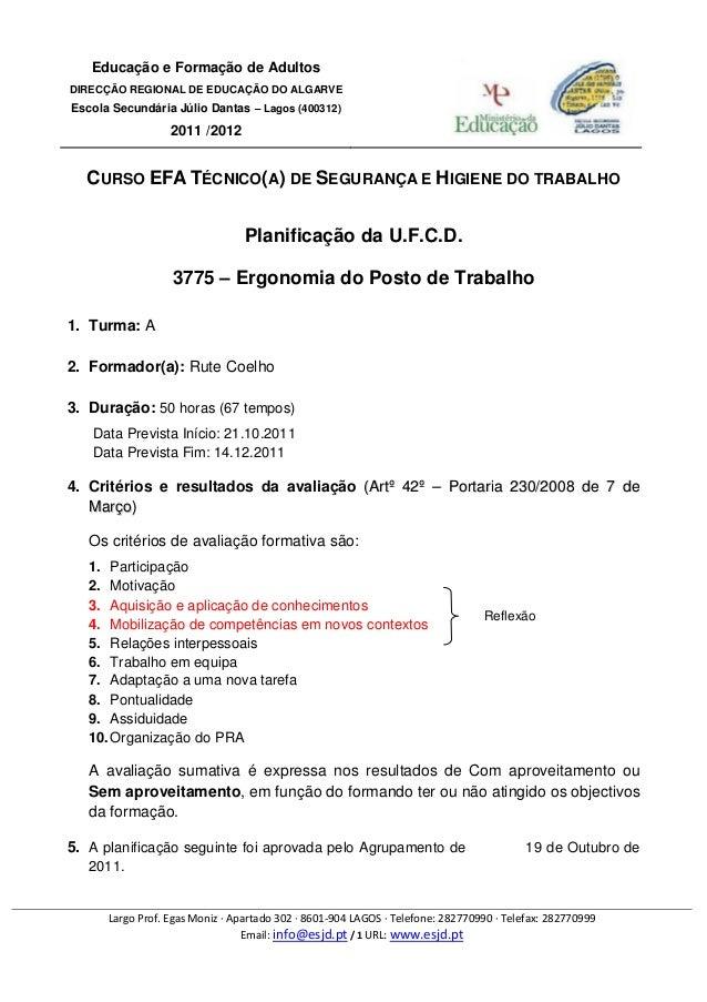 Educação e Formação de AdultosDIRECÇÃO REGIONAL DE EDUCAÇÃO DO ALGARVEEscola Secundária Júlio Dantas – Lagos (400312)     ...