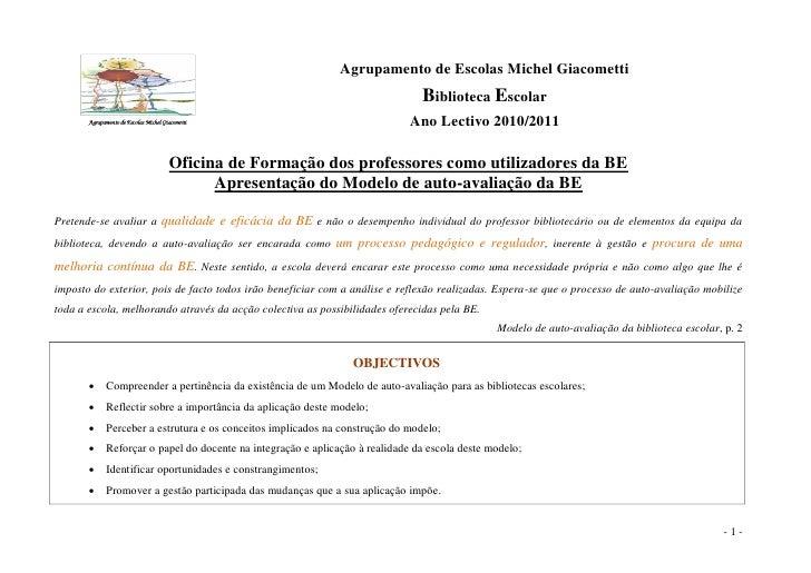 Agrupamento de Escolas Michel Giacometti                                                                              Bibl...
