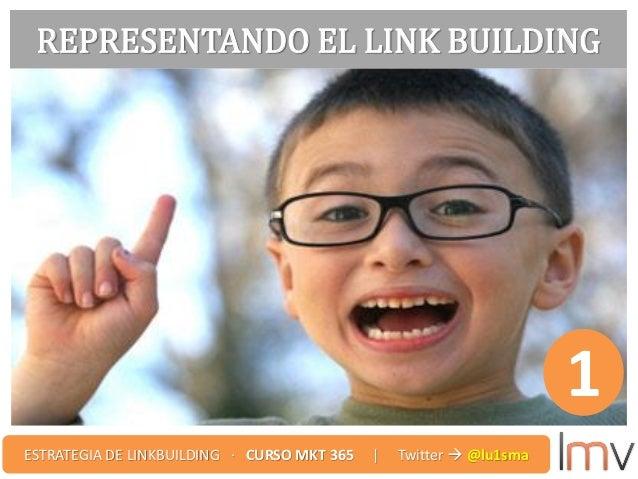 REPRESENTANDO EL LINK BUILDING 1 ESTRATEGIA DE LINKBUILDING · CURSO MKT 365 | Twitter  @lu1sma