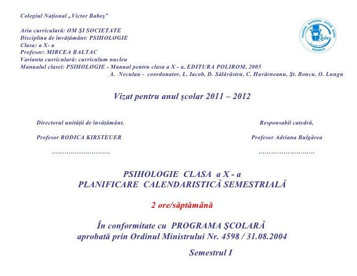 Planificare semestrialapsihologie 2011 2012