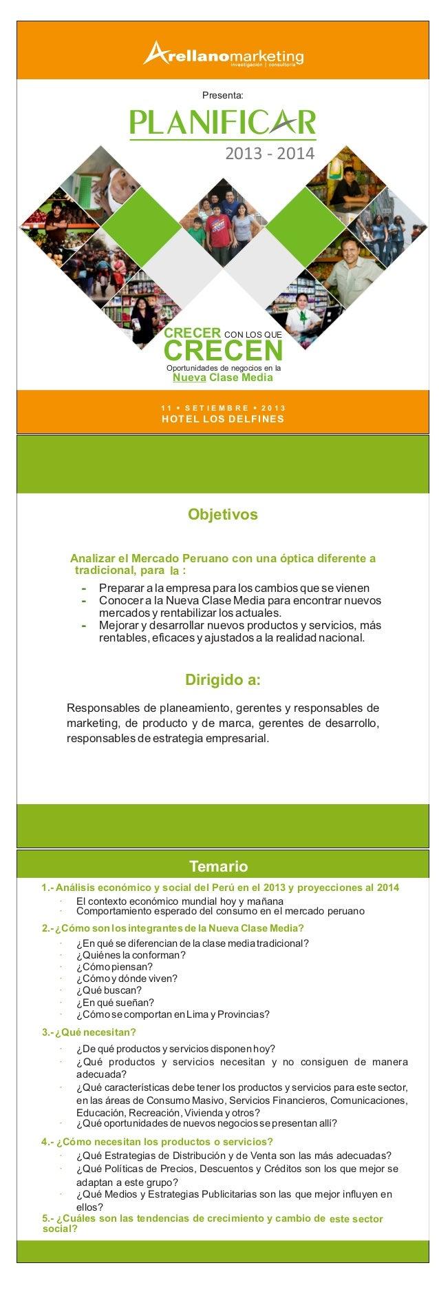 Presenta: PLANIFIC R 2013 - 2014 1 1 S E T I E M B R E 2 0 1 3 HOTEL LOS DELFINES CON LOS QUECON LOS QUECON LOS QUE CRECEN...