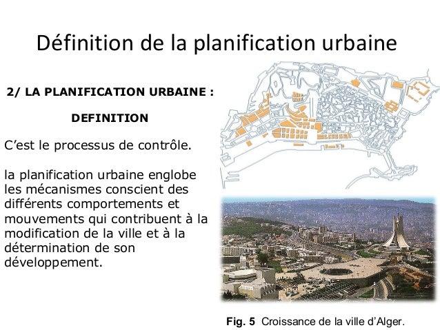 Planification urbaine 01 for Outil de planification de cuisine