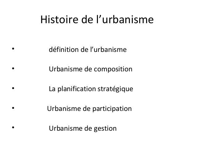 Planification urbaine 02 for Architecture urbaine definition