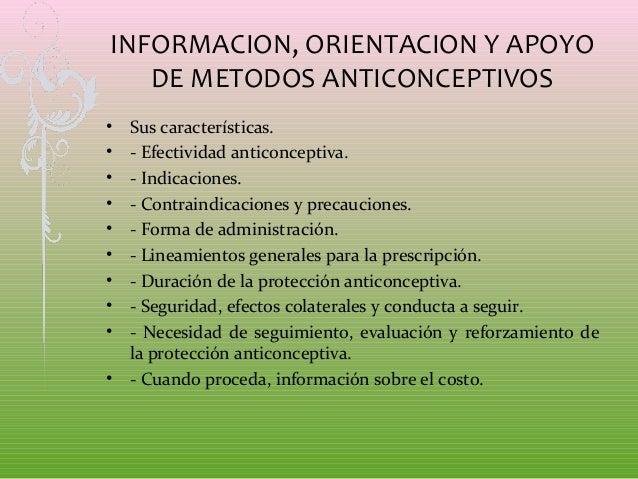 Metodos anticonceptivos for Informacion sobre los arquitectos