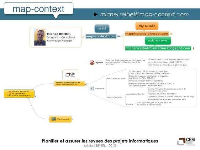 map-context                    ► michel.reibel@map-context.com      Planifier et assurer les revues des projets informatiq...