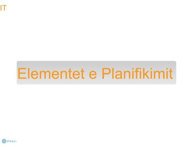 PLANIFIKIMI - Bazat e menaxhimit