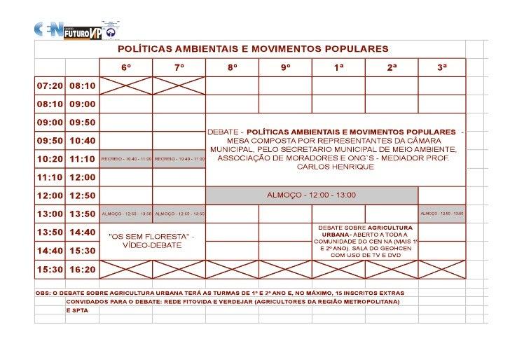 AmbientaCEN: Planilha De 3a Feira