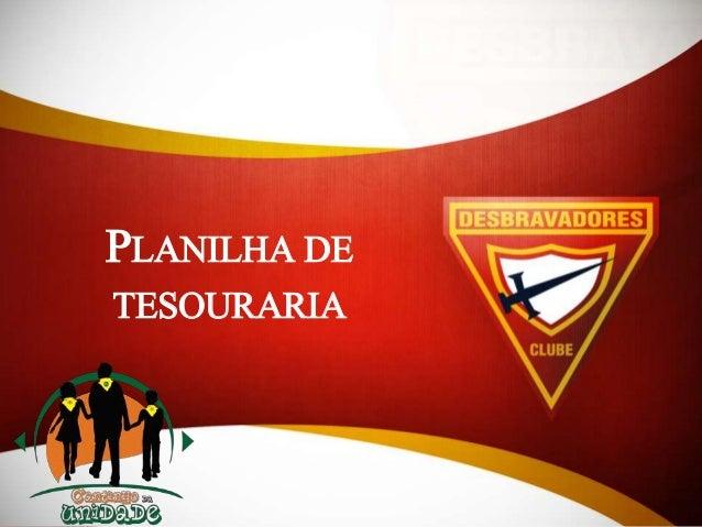 PLANILHA DE TESOURARIA