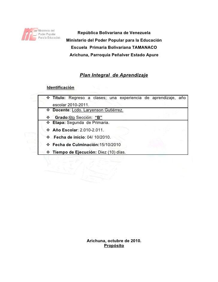República Bolivariana de Venezuela          Ministerio del Poder Popular para la Educación             Escuela Primaria Bo...