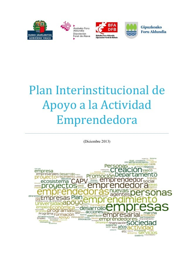 PlanInterinstitucionalde ApoyoalaActividad Emprendedora  (Diciembre 2013)