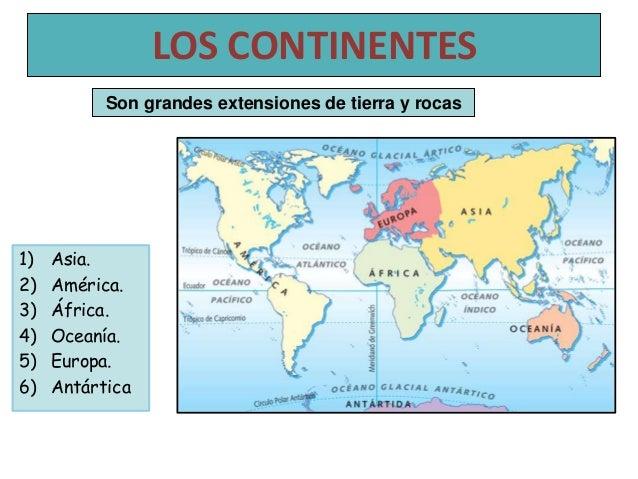 Cuales Son Los 6 Continentes Del Planisferio: Planisferio