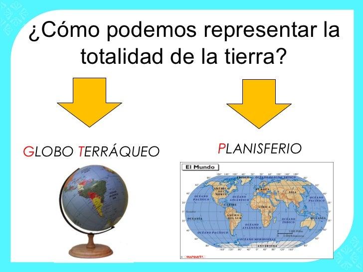 Resultado de imagen de la tierra y su representacion globos terraqueos y planisferio