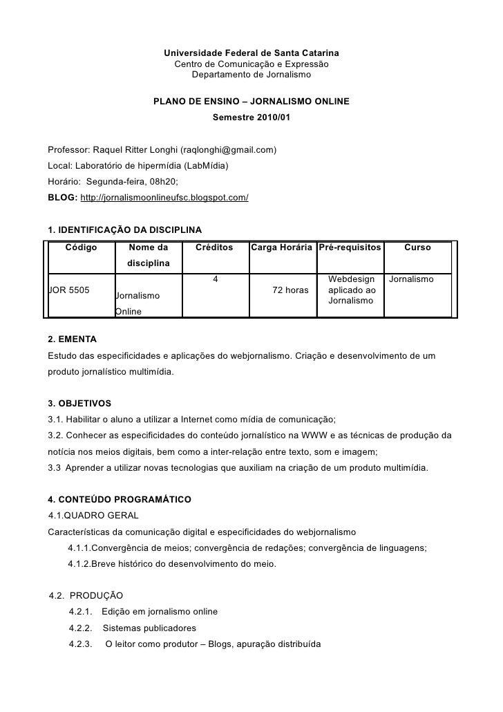 Universidade Federal de Santa Catarina                                 Centro de Comunicação e Expressão                  ...