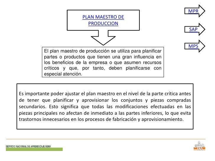 MPR                             PLAN MAESTRO DE                               PRODUCCION                                  ...