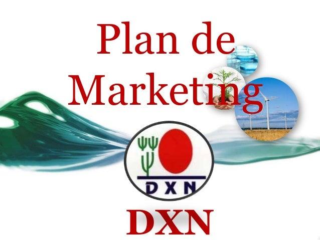 Plan deMarketing  DXN