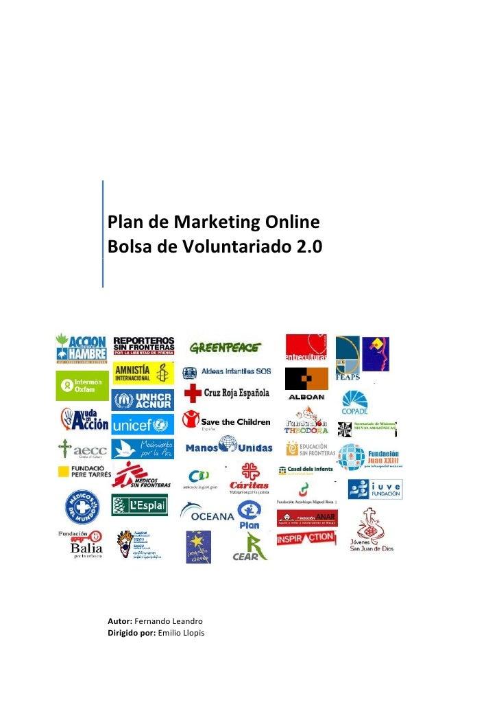Trabajo MBA - Plan de Marketing online para una ONG