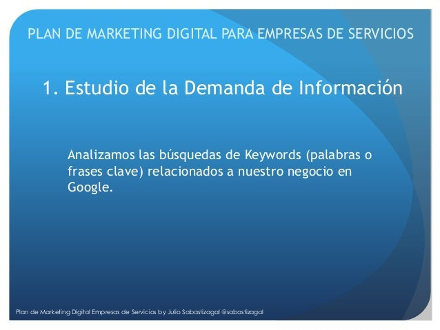 Plan De Marketing Digital Para Empresas De Servicios