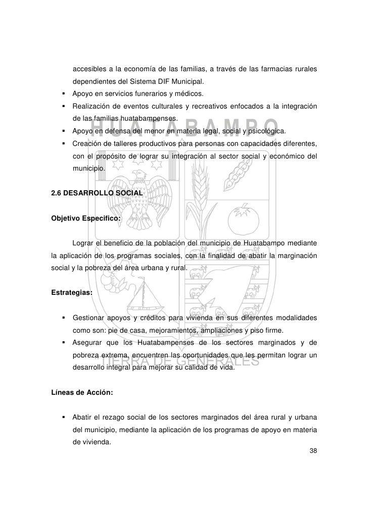 Plan municipal de desarrollo 2010 2012 de huatabampo - Permisos para construir una casa ...