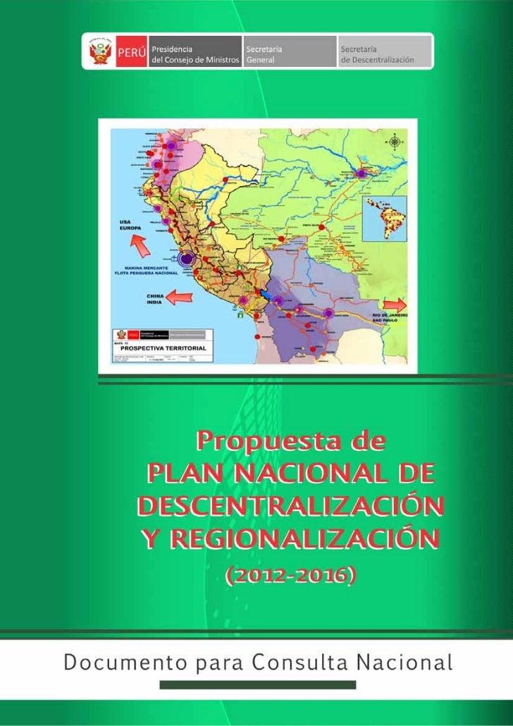 Secretaría de Descentralización                   PRESIDENCIA DEL CONSEJO DE MINISTROS                                    ...