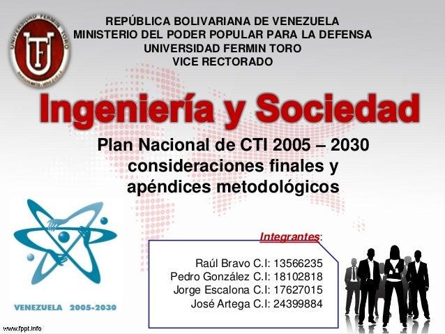 REPÚBLICA BOLIVARIANA DE VENEZUELAMINISTERIO DEL PODER POPULAR PARA LA DEFENSA           UNIVERSIDAD FERMIN TORO          ...