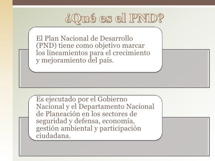 Plan nacional de desarrollo – evolucion de indicadores Slide 2