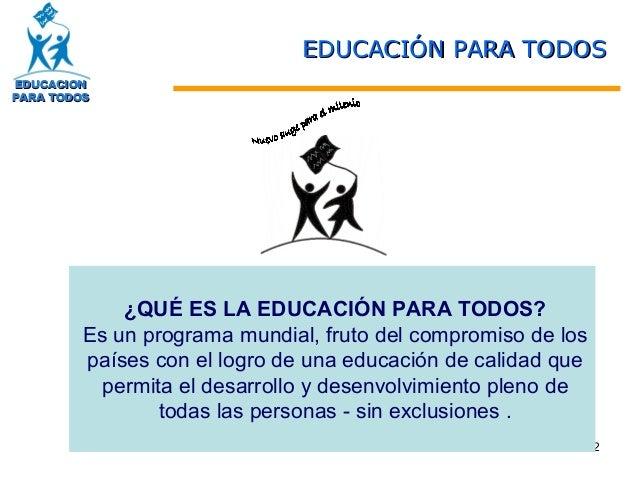 Plan nacional de educacion Slide 2