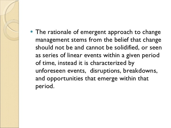 planned approach to change Kurt lewin's three stages model or the planned approach to organizational is  one of the cornerstone models which is relevant in the present scenario even.